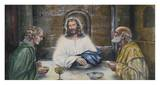Christ at Emmaus Prints by Charles Peitz Jr.
