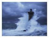 """Leuchtturm """"Four"""", Bretagne Kunstdrucke von Jean Guichard"""