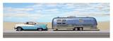 Classic Car with Mobile Home Prints by Mark Hamilton