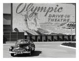Olympic Drive-in Theater Lámina por Kurt Hutton