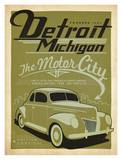 Detroit, The Motor City Prints by  Anderson Design Group