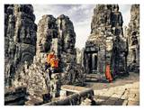 Boy Monks reading in Angkor Wat, Cambodia Art by Scott Stulberg