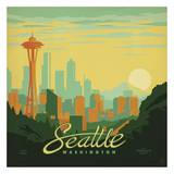 Seattle Square Print by  Anderson Design Group