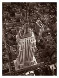 Aerial View of Empire State Building Print