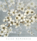 Silver Blossoms II Poster by Elise Remender