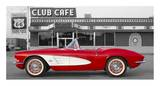 1961 Chevrolet Corvette at Club Cafe on Route 66 Pósters
