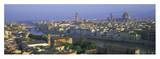 Panoramic view of Florence across Arno River Art by Lee Frost
