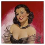 Pinups: Woman Against Red Posters por Art Frahm