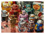 Atomic Robot Men Poster by Don Jacot