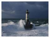 Phare d'Ar-Men, Bretagne Print by Jean Guichard