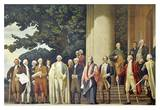 James Madison presenting the Constitution to George Washington Prints by Barry Faulkner