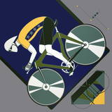 Cycling Serigraph by  Lepas