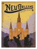 New Orleans, The Big Easy Pster por Anderson Design Group