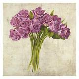 Bouquet de Roses Print by Leonardo Sanna