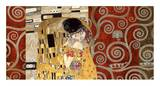 The Kiss (pewter montage) Prints by Gustav Klimt