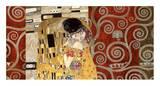 The Kiss (pewter montage) Láminas por Gustav Klimt