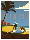 Miami, Florida Poster by  Anderson Design Group
