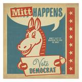 Mitt Happens Square Posters by  Anderson Design Group