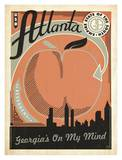 Atlanta, Georgia's On My Mind Prints by  Anderson Design Group