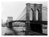 Brooklyn Bridge, New York, 1900 Prints by A. Loeffler