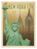 New York City Liberty Posters by  Anderson Design Group