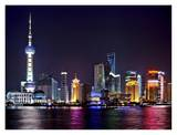 Shanghai at night Print by Vadim Ratsenskiy