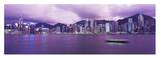 Hong Kong Central District's Skyline at Twilight Poster by Reed Kaestner