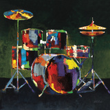 Drum Set, Retro Affiches par Elli & John Milan