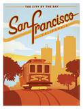 San Francisco, The City by the Bay Póster por Anderson Design Group