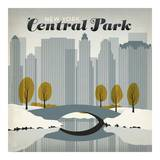 Central Park Square Lámina por Anderson Design Group
