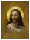 Christ Head Posters by Florence Kroger