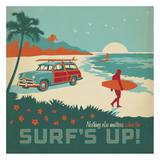Surf's Up Square Print by  Anderson Design Group