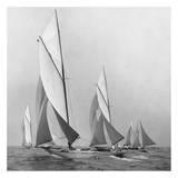 Edwin Levick - Sailboats Sailing Downwind, 1920 - Reprodüksiyon
