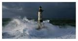 Phare d'Ar-Men lors d'une tempête Affiche par Jean Guichard