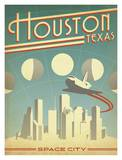 Houston Space City Posters by  Anderson Design Group