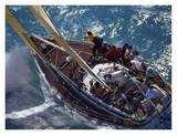X Cargo Sailboat Racing Upwind Kunstdrucke von Onne van der Wal