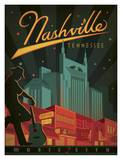 Nashville Music City Art by  Anderson Design Group