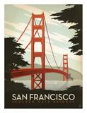 San Francisco, Golden Gate Bridge Pósters por Anderson Design Group