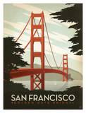 San Francisco, Golden Gate Bridge Art by  Anderson Design Group