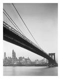 Brooklyn Bridge and Manhattan Skyline Posters by Charles Rotkin