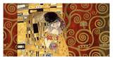 The Kiss (gold montage) Posters av Gustav Klimt