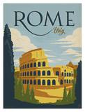 Rome Italy Poster por Anderson Design Group