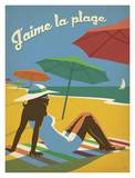 Jaime La Plage Print by  Anderson Design Group