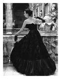 Black Evening Dress, Roma 1952 Póster por Genevieve Naylor