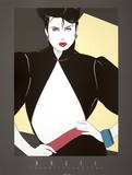 Open Jacket Serigraph by Patrick Nagel