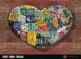 I Heart America Affiche par Aaron Foster