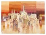 Milano al tramonto Prints by Luigi Florio