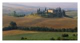 Tuscany, Val d'Orcia, fields at sunrise Posters by Sergio Pitamitz