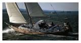 Sailing in Narragansett Bay Poster von Onne van der Wal