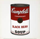 Sopa de judas negras Lminas por Andy Warhol